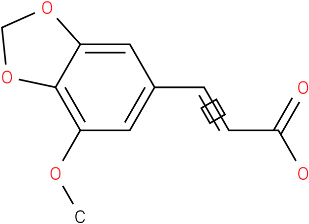 5-methoxy-3,4-methylenedioxycinnamic acid