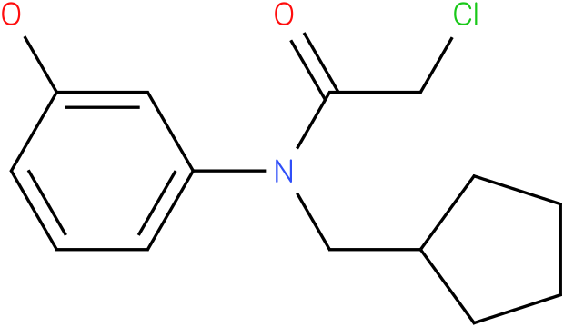 2-chloro-N-(cyclopentylmethyl)-N-(3-hydroxyphenyl)acetamide