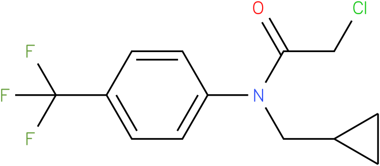 2-chloro-N-(cyclopropylmethyl)-N-(4-(trifluoromethyl)phenyl)acetamide