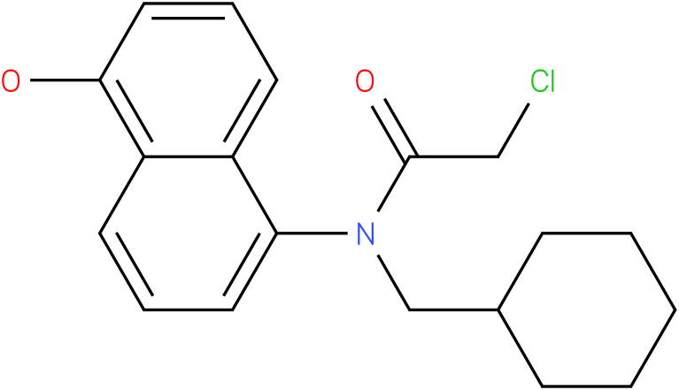 2-chloro-N-(cyclohexylmethyl)-N-(1-hydroxynaphthalen-5-yl)acetamide