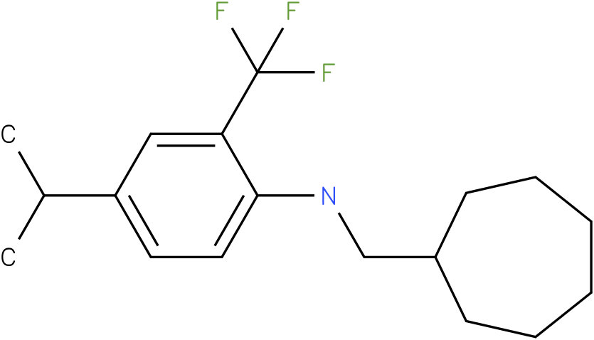 N-(cycloheptylmethyl)-2-(trifluoromethyl)-4-isopropylbenzenamine