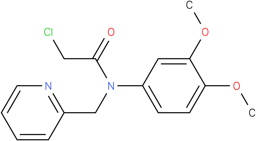 2-chloro-N-(3,4-dimethoxyphenyl)-N-((pyridin-2-yl)methyl)acetamide