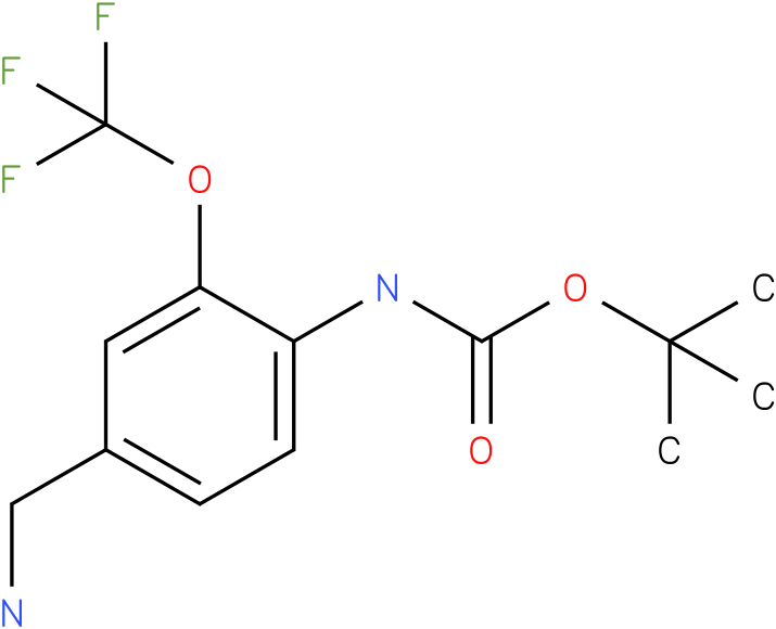 tert-butyl 4-(aminomethyl)-2-(trifluoromethoxy)phenylcarbamate