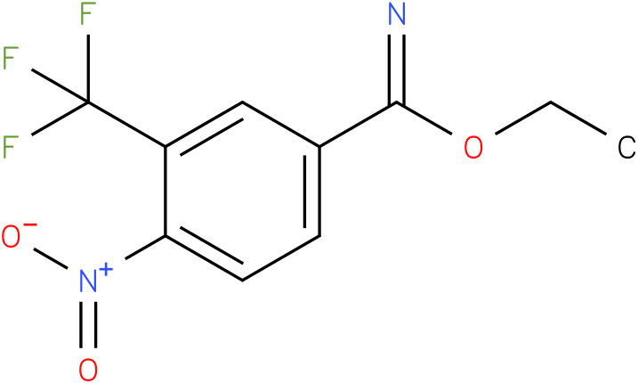 4-nitro-3-trifluoromethyl benzimidic acid ethyl ester