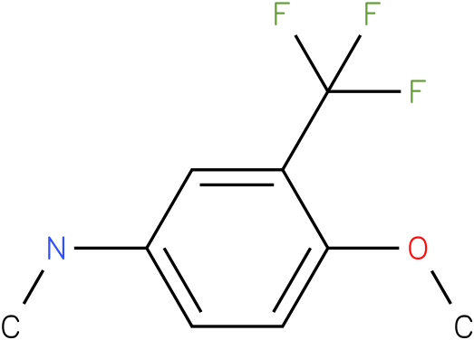 3-(trifluoromethyl)-4-methoxy-N-methylbenzenamine