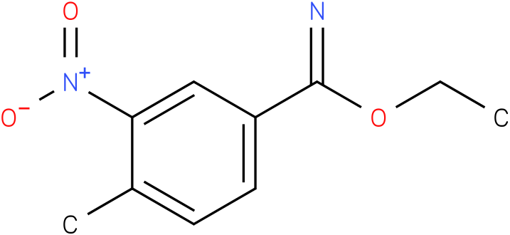 4-methyl-3-nitro-benzimidic acid ethyl ester