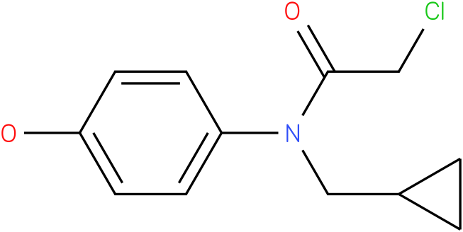 2-chloro-N-(cyclopropylmethyl)-N-(4-hydroxyphenyl)acetamide