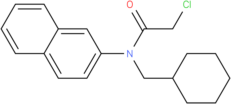 2-chloro-N-(cyclohexylmethyl)-N-(naphthalen-2-yl)acetamide