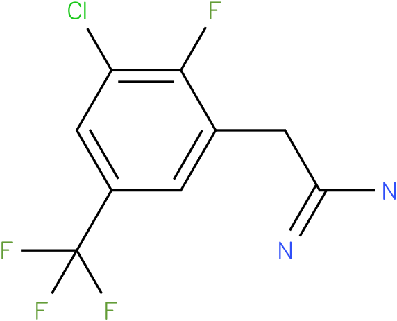 2-(3-chloro-2-fluoro-5-(trifluoromethyl)phenyl)acetamidine