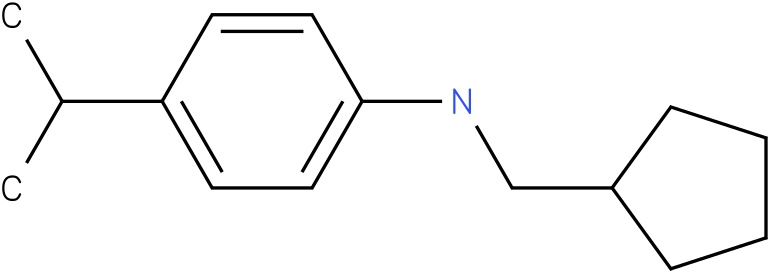 N-(cyclopentylmethyl)-4-isopropylbenzenamine