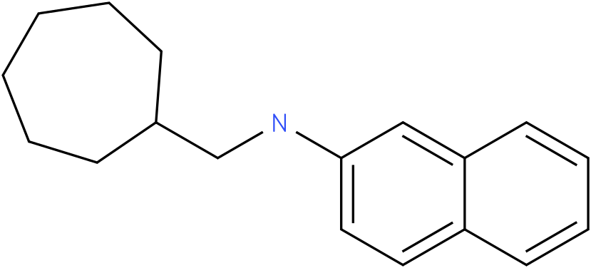 N-(cycloheptylmethyl)naphthalen-2-amine