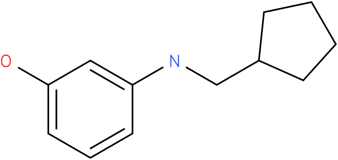 3-(cyclopentylmethylamino)phenol
