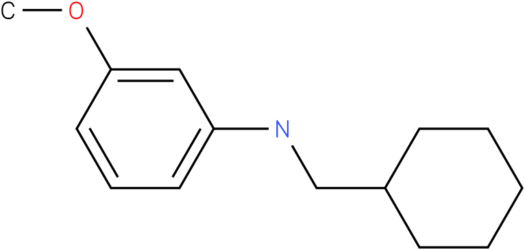 N-(cyclohexylmethyl)-3-methoxybenzenamine