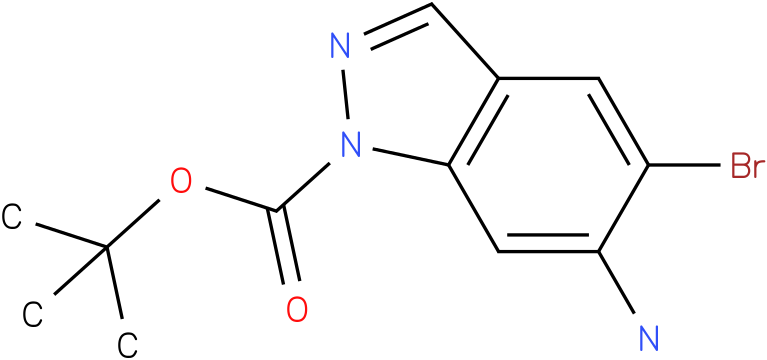 1H-INDAZOLE-1-CARBOXYLIC ACID,6-AMINO-5-BROMO-,1,1-DIMETHYLETHYL ESTER