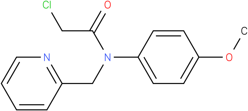 2-chloro-N-(4-methoxyphenyl)-N-((pyridin-2-yl)-methyl)acetamide