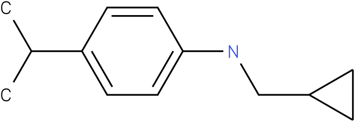 N-(cyclopropylmethyl)-4-isopropylbenzenamine