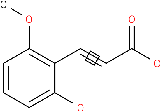 3-(2-hydroxy-6-methoxy-phenyl)-acrylic acid