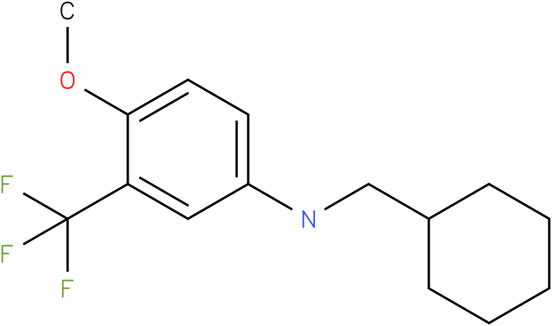 N-(cyclohexylmethyl)-3-(trifluoromethyl)-4-methoxybenzenamine