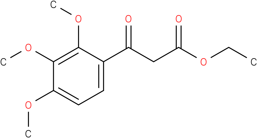 3-oxo-3-(2,3,4-trimethoxyphenyl)propionic acid ethyl ester