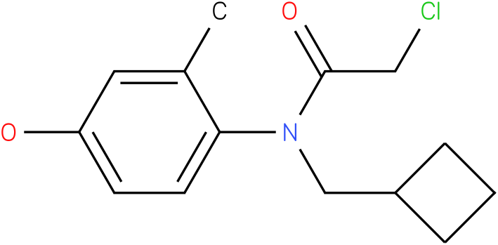 2-chloro-N-(cyclobutylmethyl)-N-(4-hydroxy-2-methylphenyl)acetamide