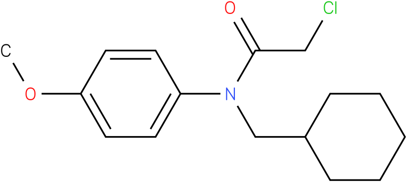 2-chloro-N-(cyclohexylmethyl)-N-(4-methoxyphenyl)acetamide