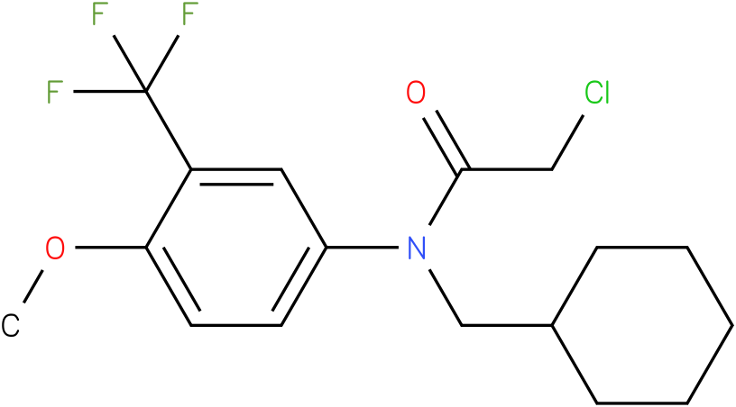 2-chloro-N-(cyclohexylmethyl)-N-(3-(trifluoromethyl)-4-methoxyphenyl)acetamide