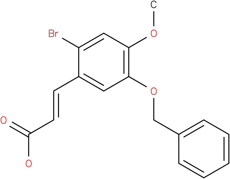5-benzyloxy-2-bromo-4-methoxycinnamic acid