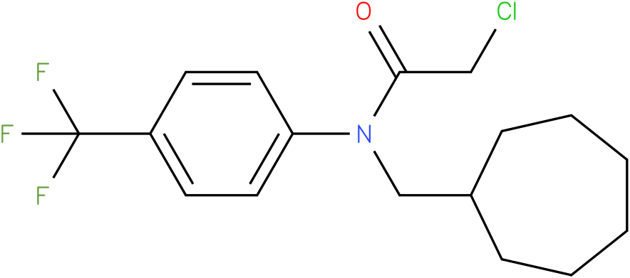 2-chloro-N-(cycloheptylmethyl)-N-(4-(trifluoromethyl)phenyl)acetamide