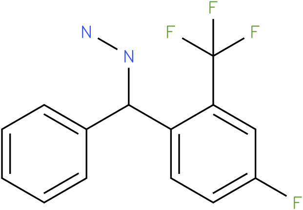 1-((4-fluoro-2-(trifluoromethyl)phenyl)(phenyl)methyl)hydrazine
