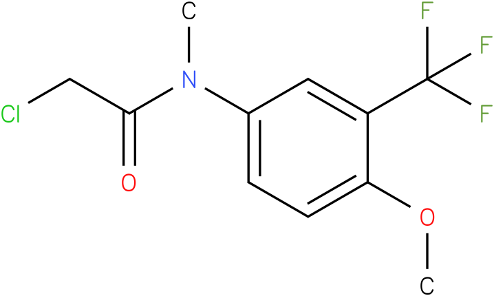 2-chloro-N-(3-(trifluoromethyl)-4-methoxyphenyl)-N-methylacetamide