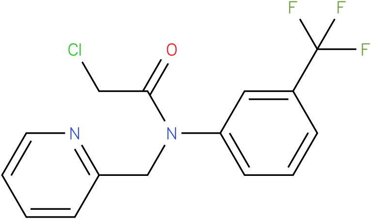 2-chloro-N-(3-(trifluoromethyl)phenyl)-N-((pyridin-2-yl)methyl)acetamide