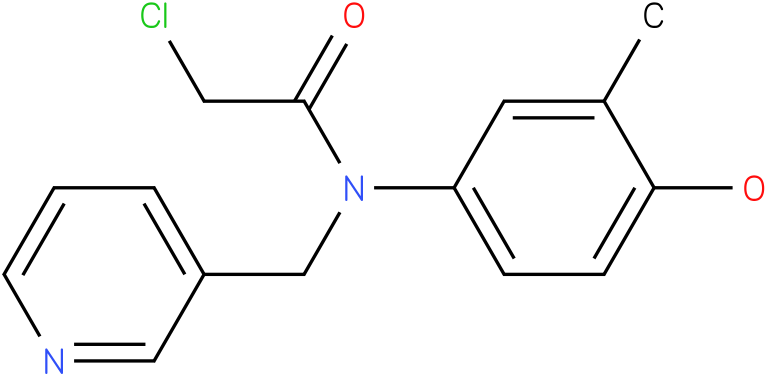 2-chloro-N-(4-hydroxy-3-methylphenyl)-N-((pyridin-3-yl)methyl)acetamide