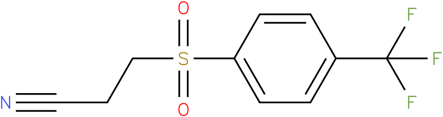 3-(4-(trifluoromethyl)phenylsulfonyl)propanenitrile