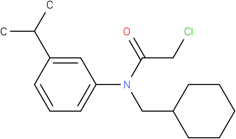 2-chloro-N-(cyclohexylmethyl)-N-(3-isopropylphenyl)acetamide