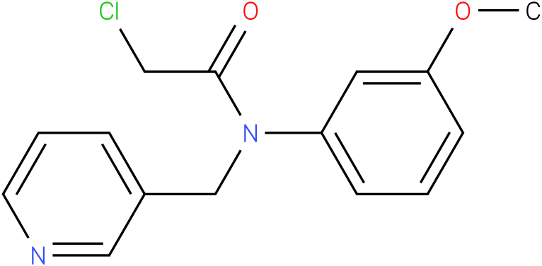 2-chloro-N-(3methoxyphenyl)-N-((pyridin-3-yl)methyl)acetamide