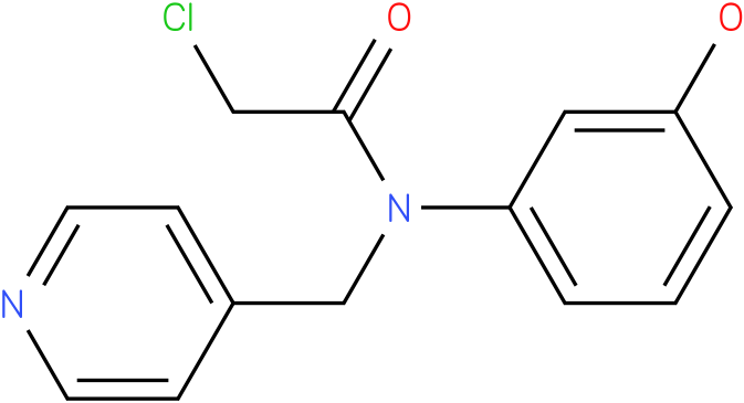 2-chloro-N-(3-hydroxyphenyl)-N-((pyridin-4-yl)methyl)acetamide