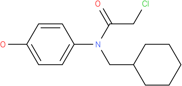 2-chloro-N-(cyclohexylmethyl)-N-(4-hydroxyphenyl)acetamide