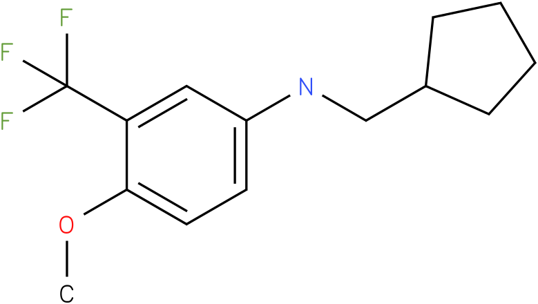 N-(cyclopentylmethyl)-3-(trifluoromethyl)-4-methoxybenzenamine