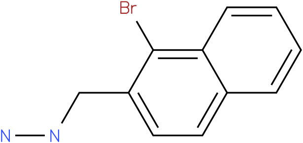 1-((1-bromonaphthalen-2-yl)methyl)hydrazine