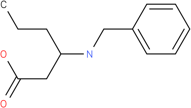 3-(benzylamino)hexanoic acid