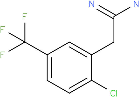 2-(2-chloro-5-(trifluoromethyl)phenyl)acetamidine