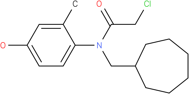 2-chloro-N-(cycloheptylmethyl)-N-(4-hydroxy-2-methylphenyl)acetamide