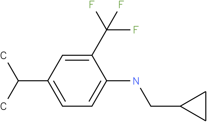 N-(cyclopropylmethyl)-2-(trifluoromethyl)-4-isopropylbenzenamine