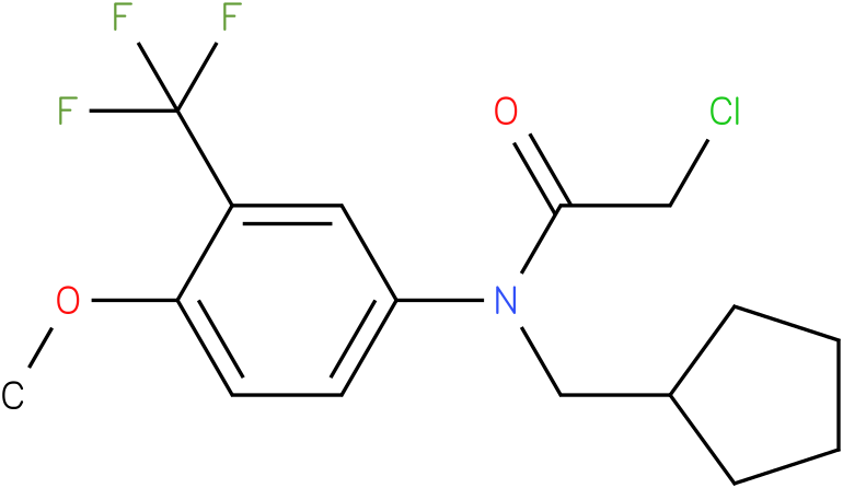 2-chloro-N-(cyclopentylmethyl)-N-(3-(trifluoromethyl)-4-methoxyphenyl)acetamide