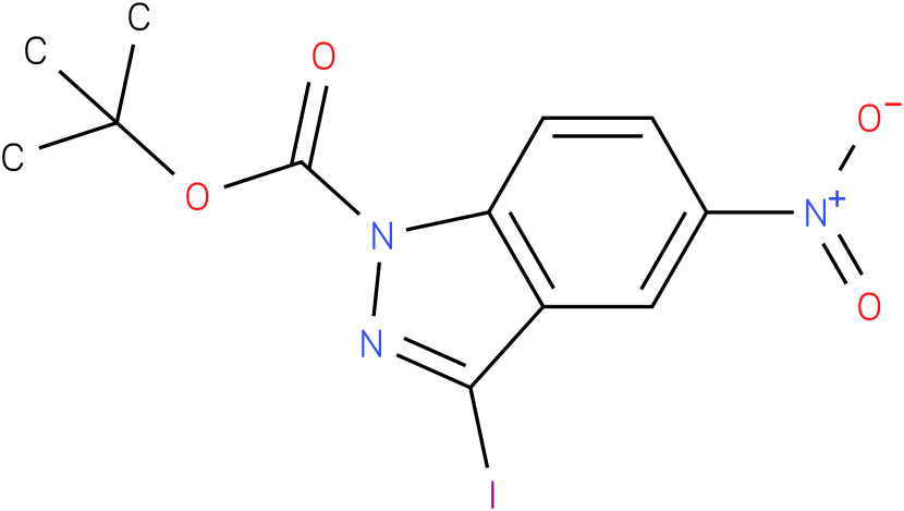 1H-INDAZOLE-1-CARBOXYLIC ACID,3-IODO-5-NITRO-,1,1-DIMETHYLETHYL ESTER