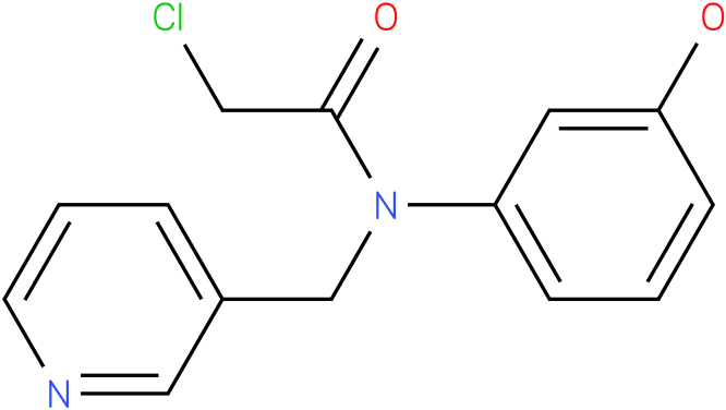 2-chloro-N-(3-hydroxyphenyl)-N-((pyridin-3-yl)methyl)acetamide