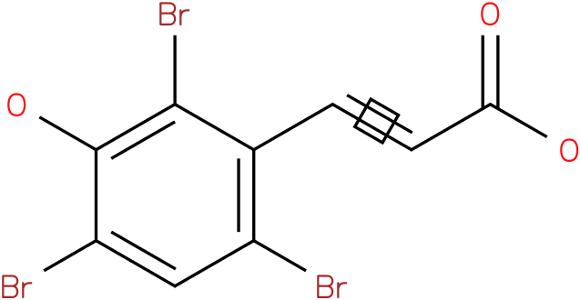 3-hydroxy-2,4,6-tribromocinnamic acid