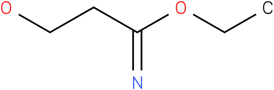 3-hydroxy-propionimidic acid ethyl ester