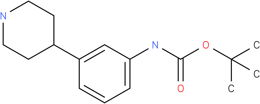 tert-butyl 3-(piperidin-4-yl)phenylcarbamate