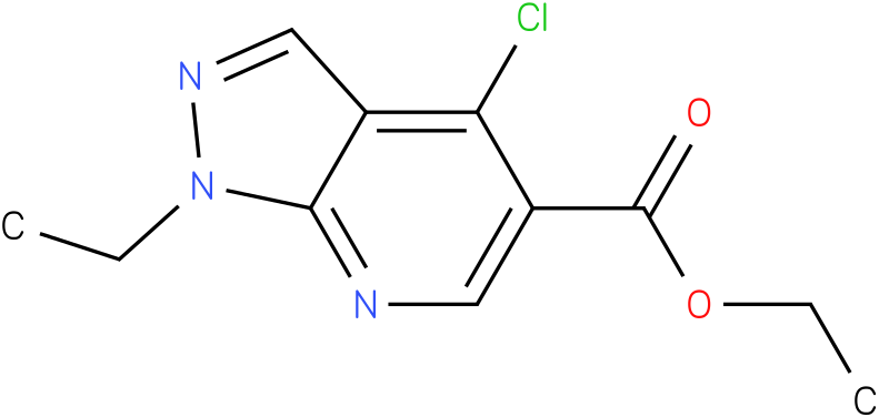 ethyl-4-chloro-1-ethyl-1h-pyrazole[3,4]pyridine-5-carboxylate